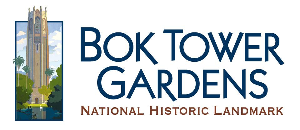 A logo for Bok Tower Gardens