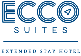 A logo for Ecco Suites in Lakeland