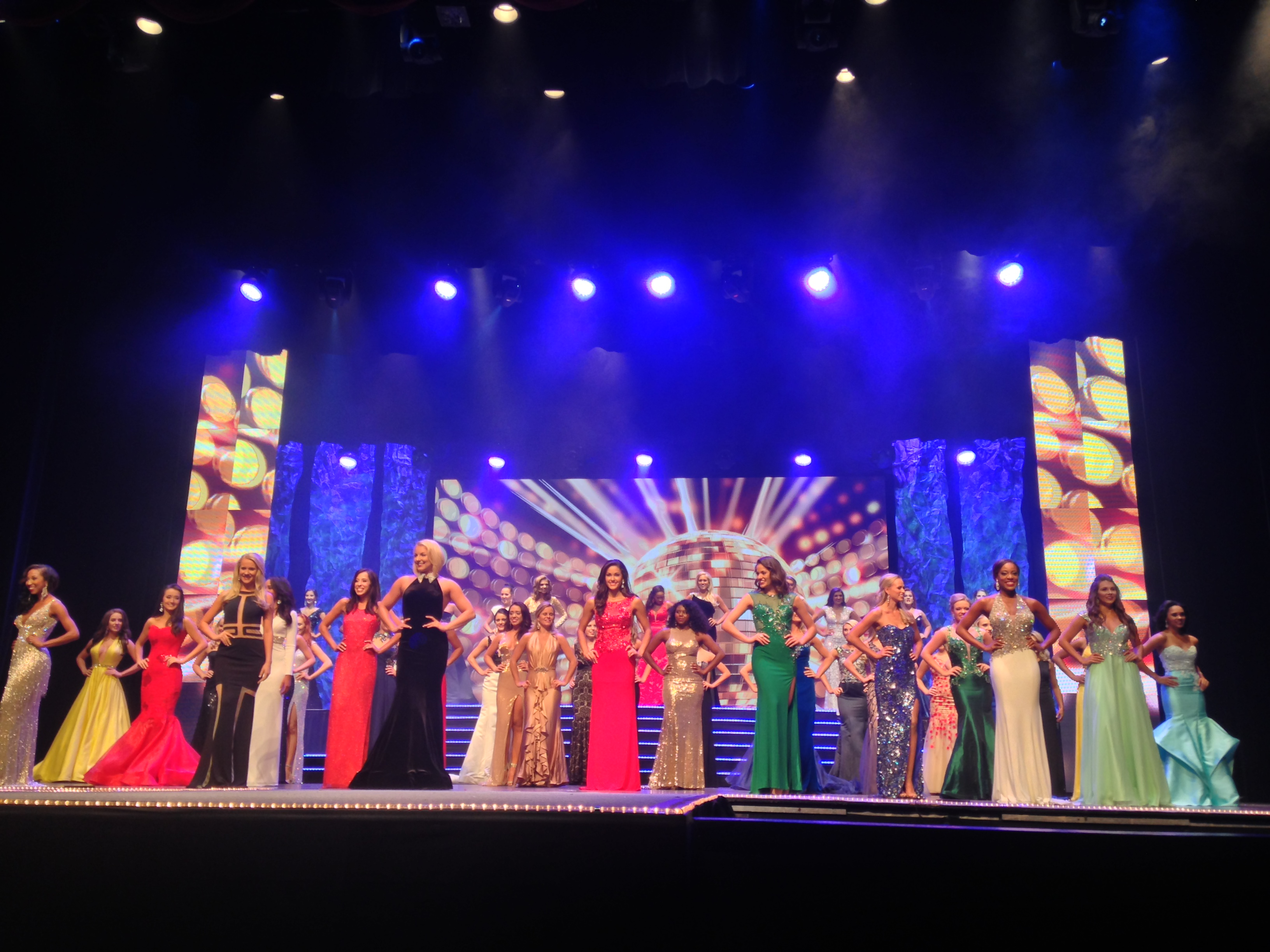 Contestants at the Miss Florida contest
