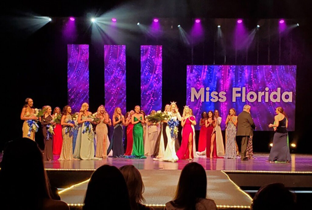 Miss Tampa Leah Roddenberry was named Miss Florida last night after two rounds of competition at the RP Funding Center's Youkey Theatre in Lakeland. The 22-year-old will represent the state in the upcoming Miss America Competition.