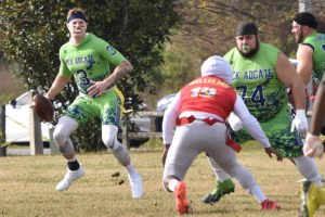 Flag football event held in multiple parks