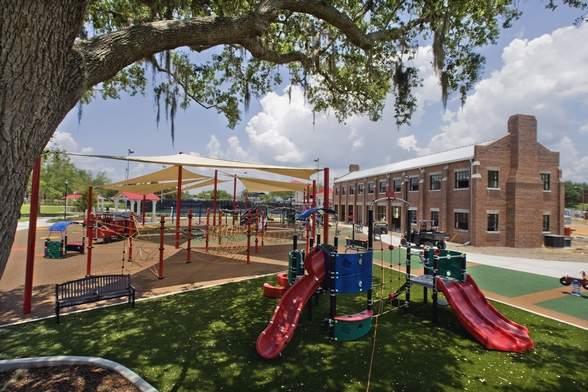 The playground at Lake Eva Park