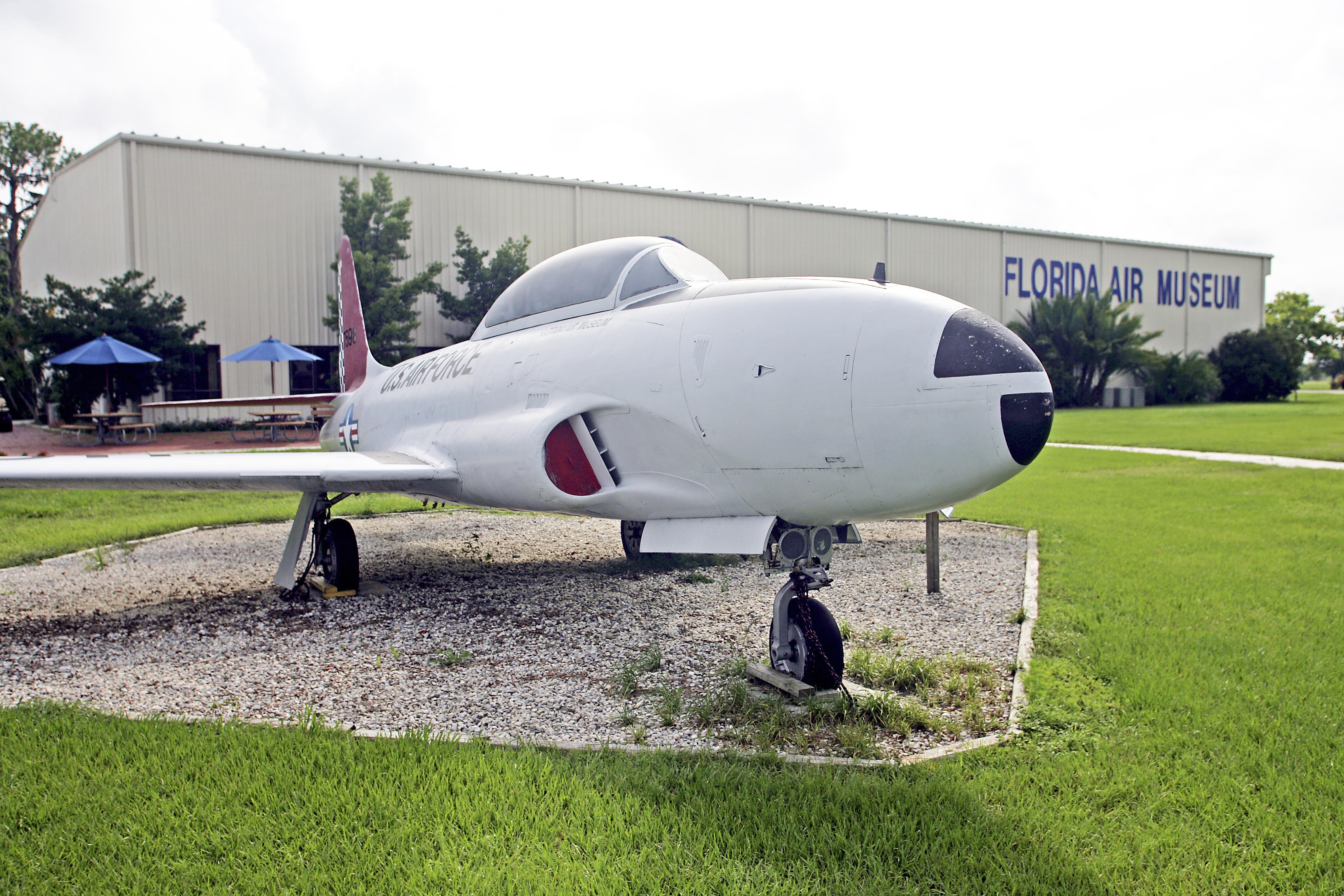 A retired plane at the SUN 'n FUN Complex