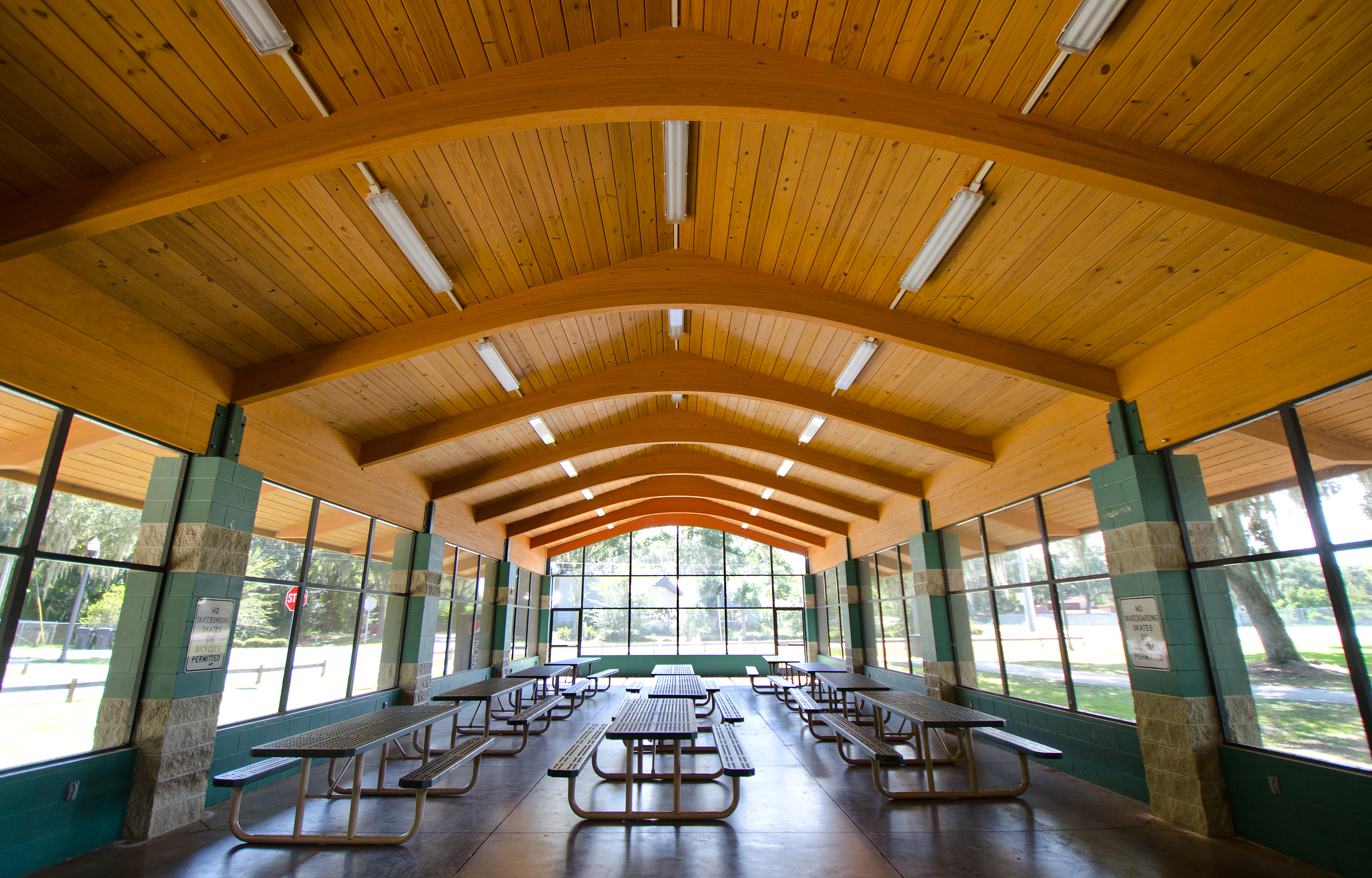 Christina Park Pavilion inside