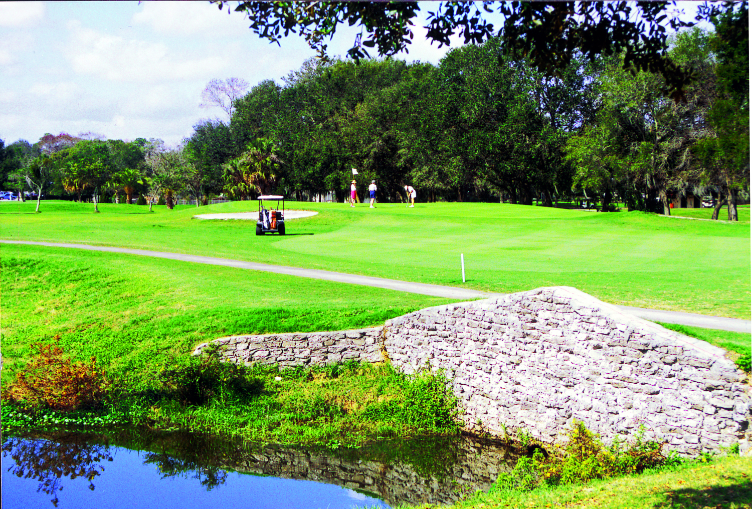 Golfers on the Cleveland Heights golf course in Lakeland