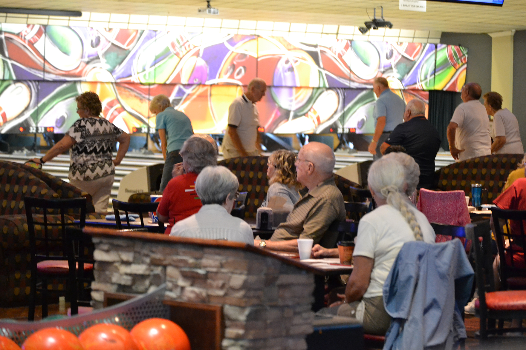 Bowlers at Cypress Lanes in Winter Haven
