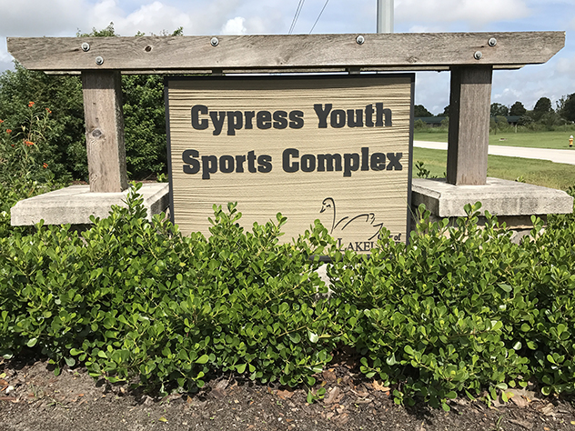 Cypress Youth Sign Lo