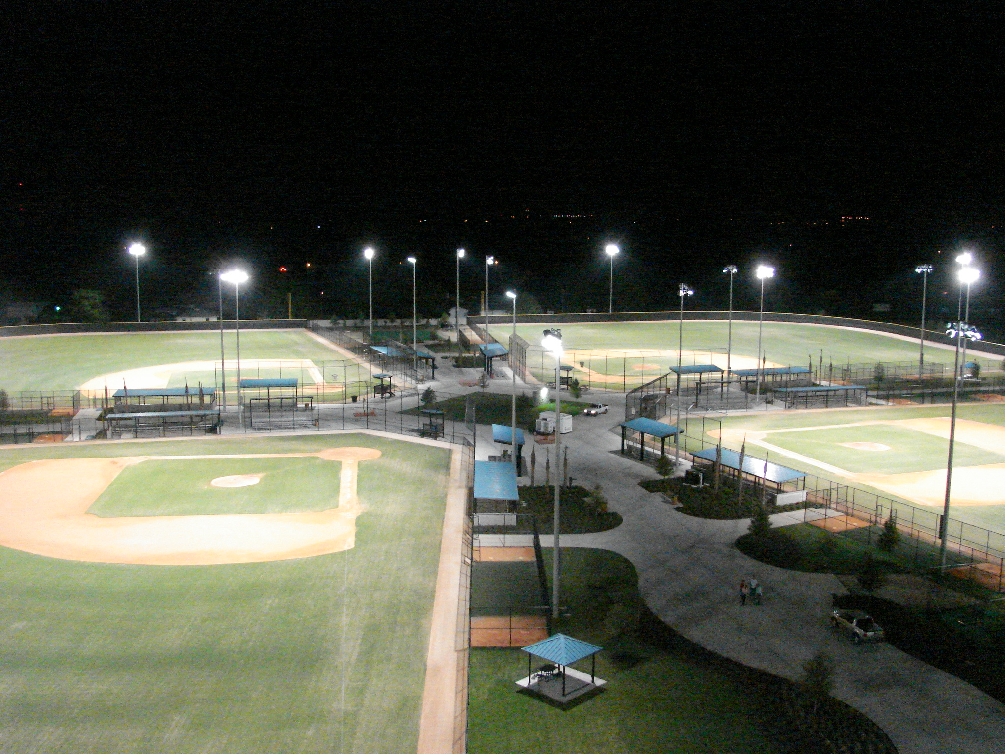 Baseball fields at the Lake Myrtle Sports Park