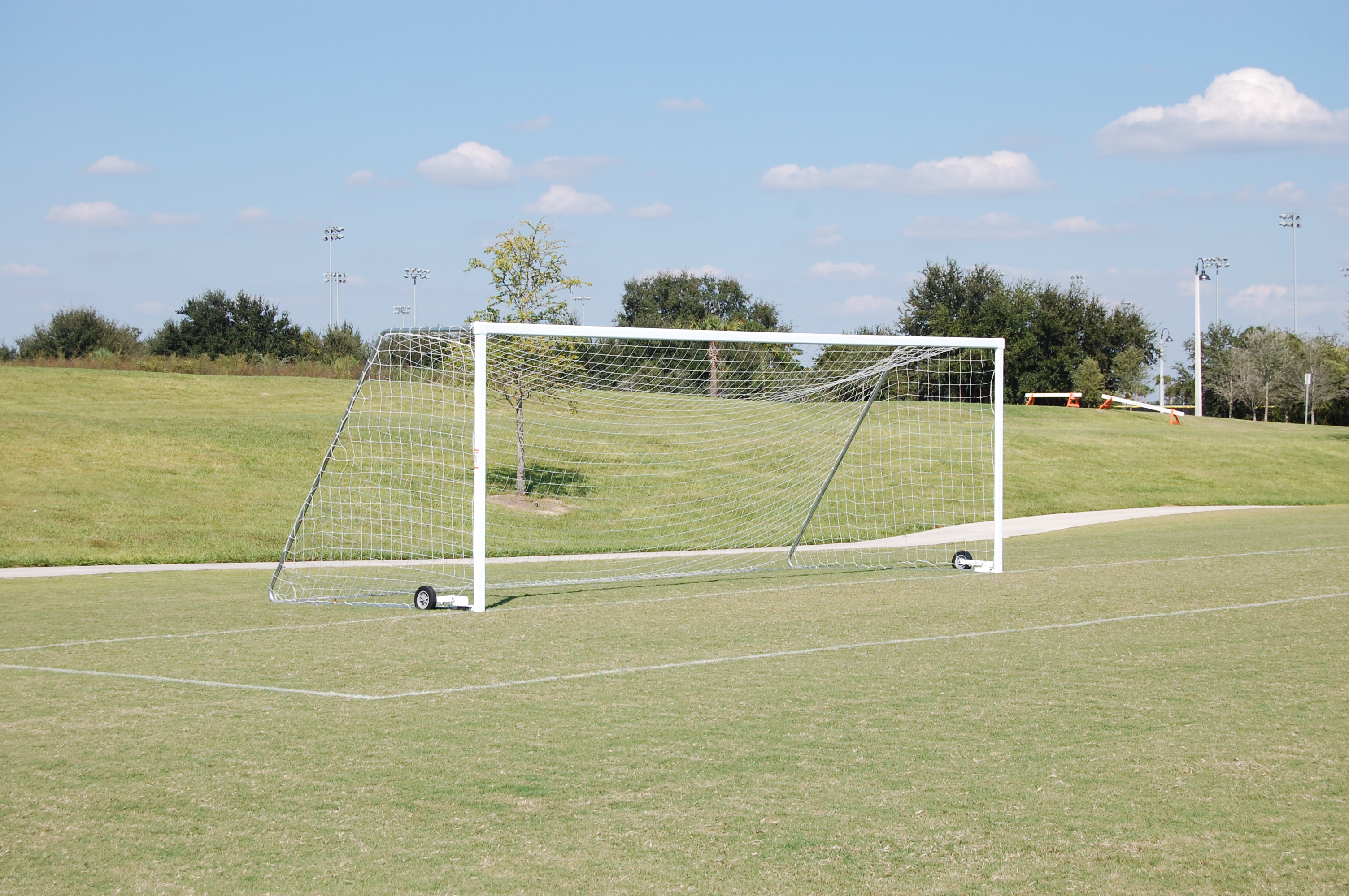 A soccer goal at the Lake Myrtle Sports Park