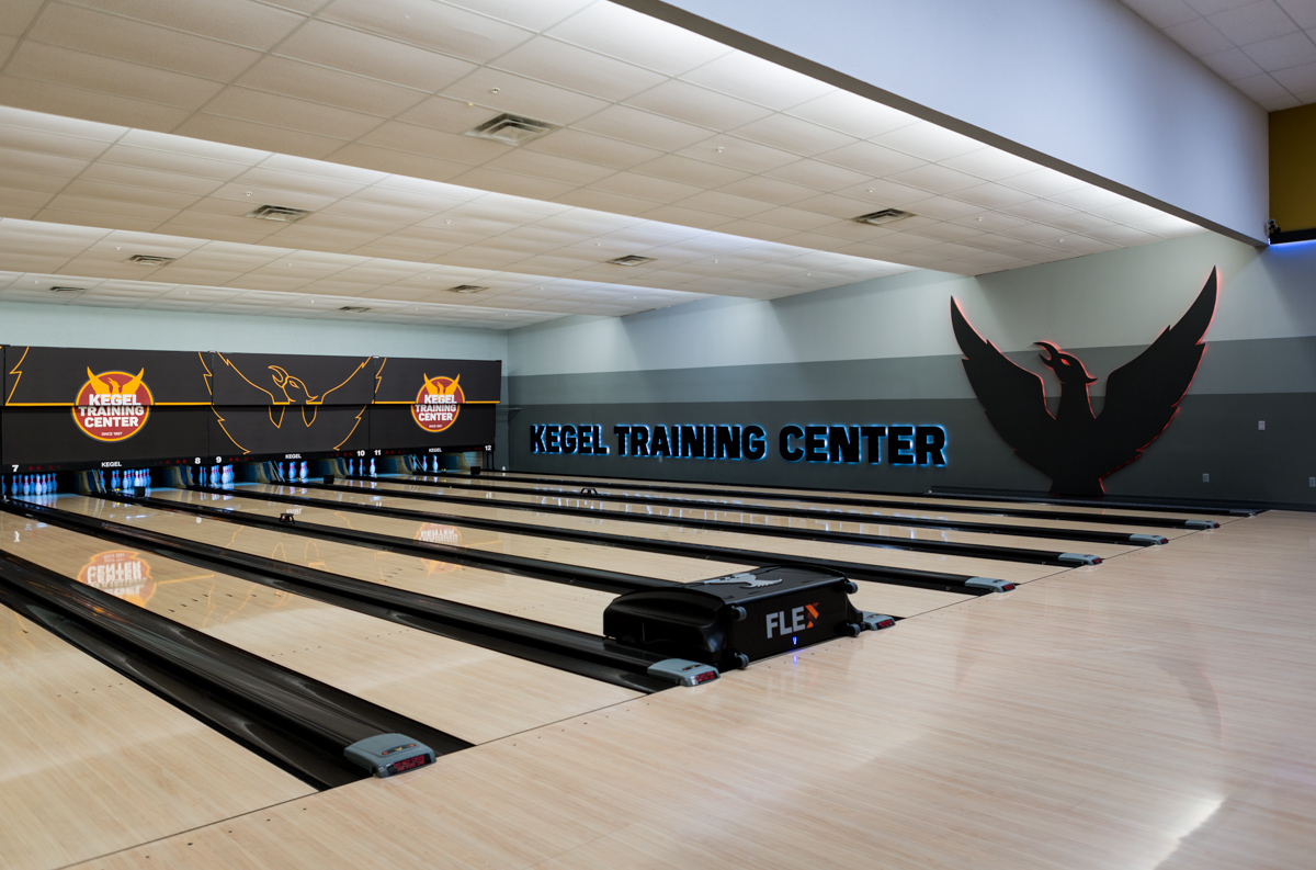 The lanes at the Kegel Training Center