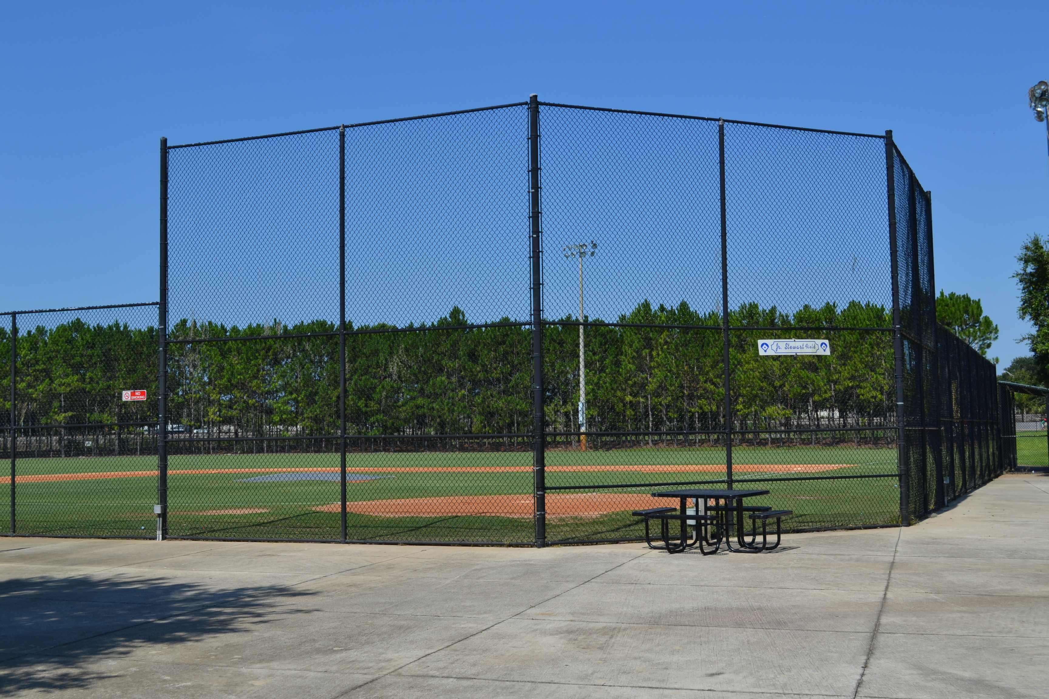 A baseball field at Lake Bonny Park