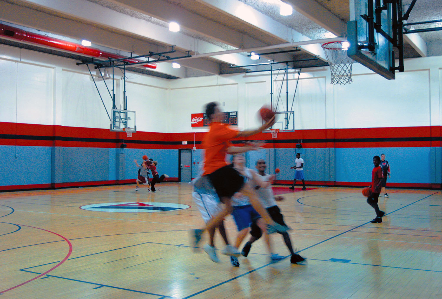 A basketball game at the Lakeland Family YMCA