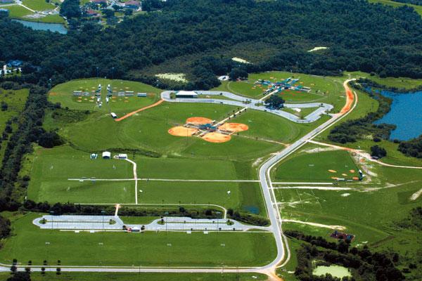 Loyce Harpe Park Aerial - soccer and ballfields