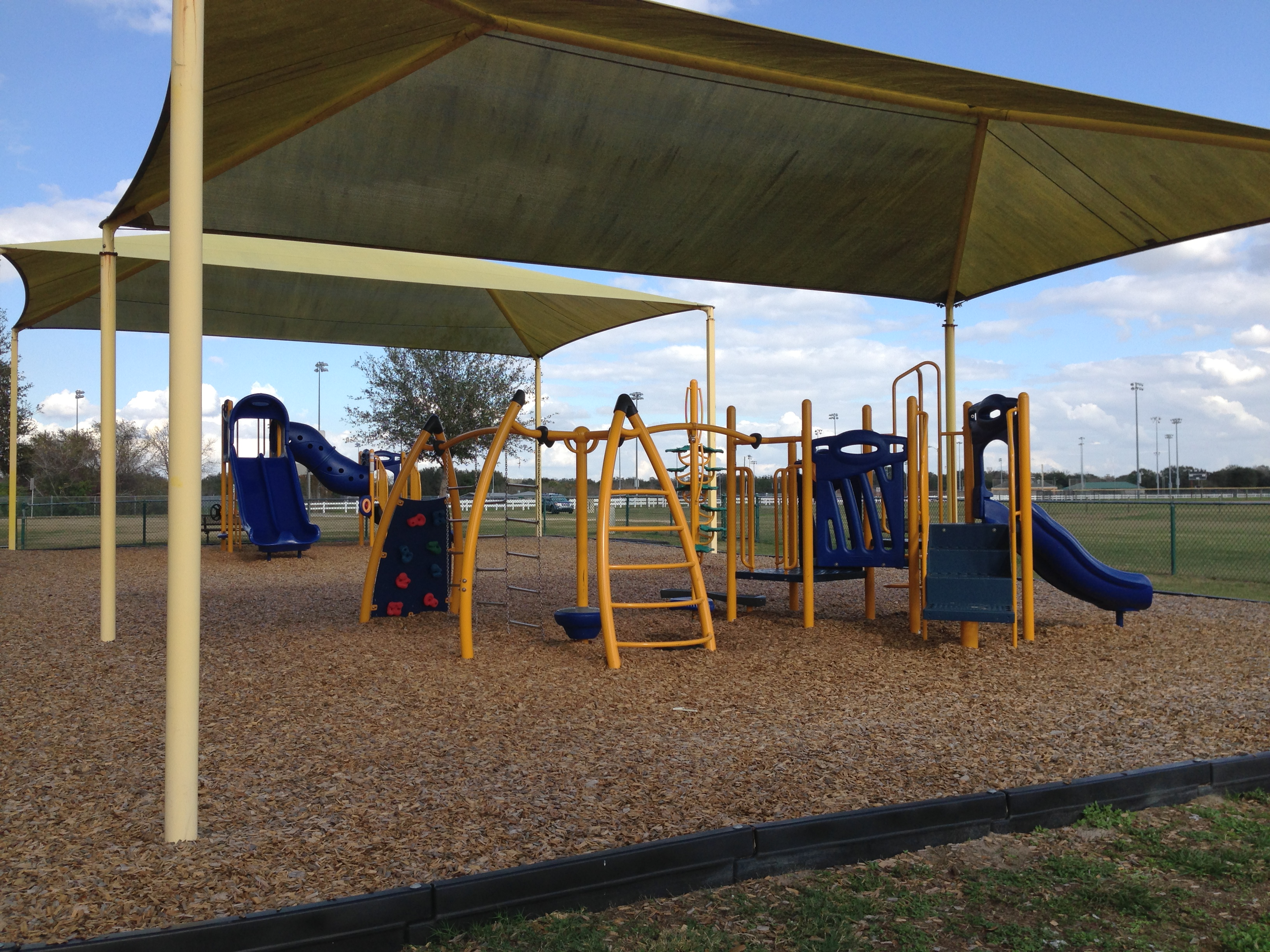 A playground area at Loyce E. Harpe Park