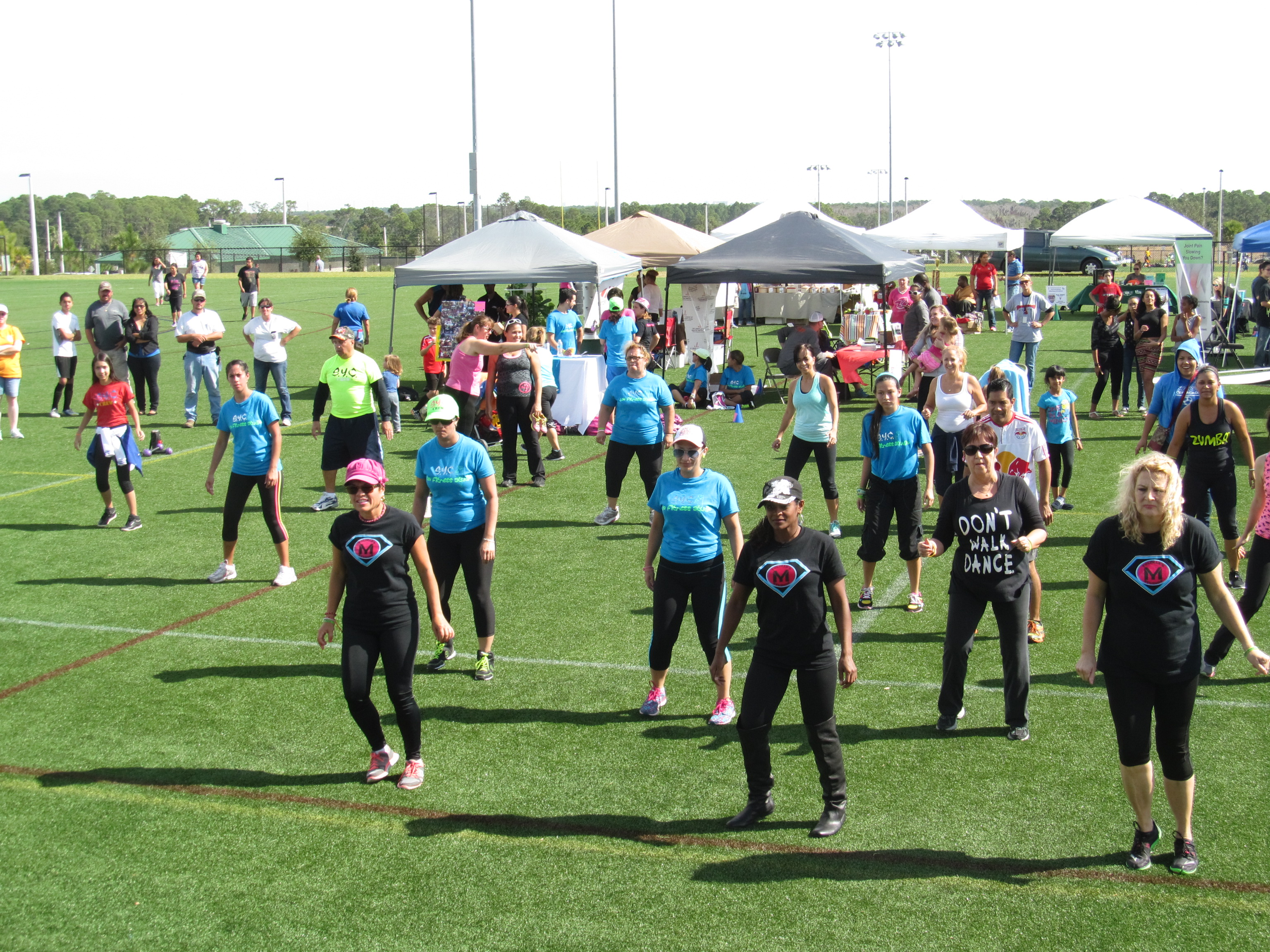A family fitness event was held at Northeast Regional Park