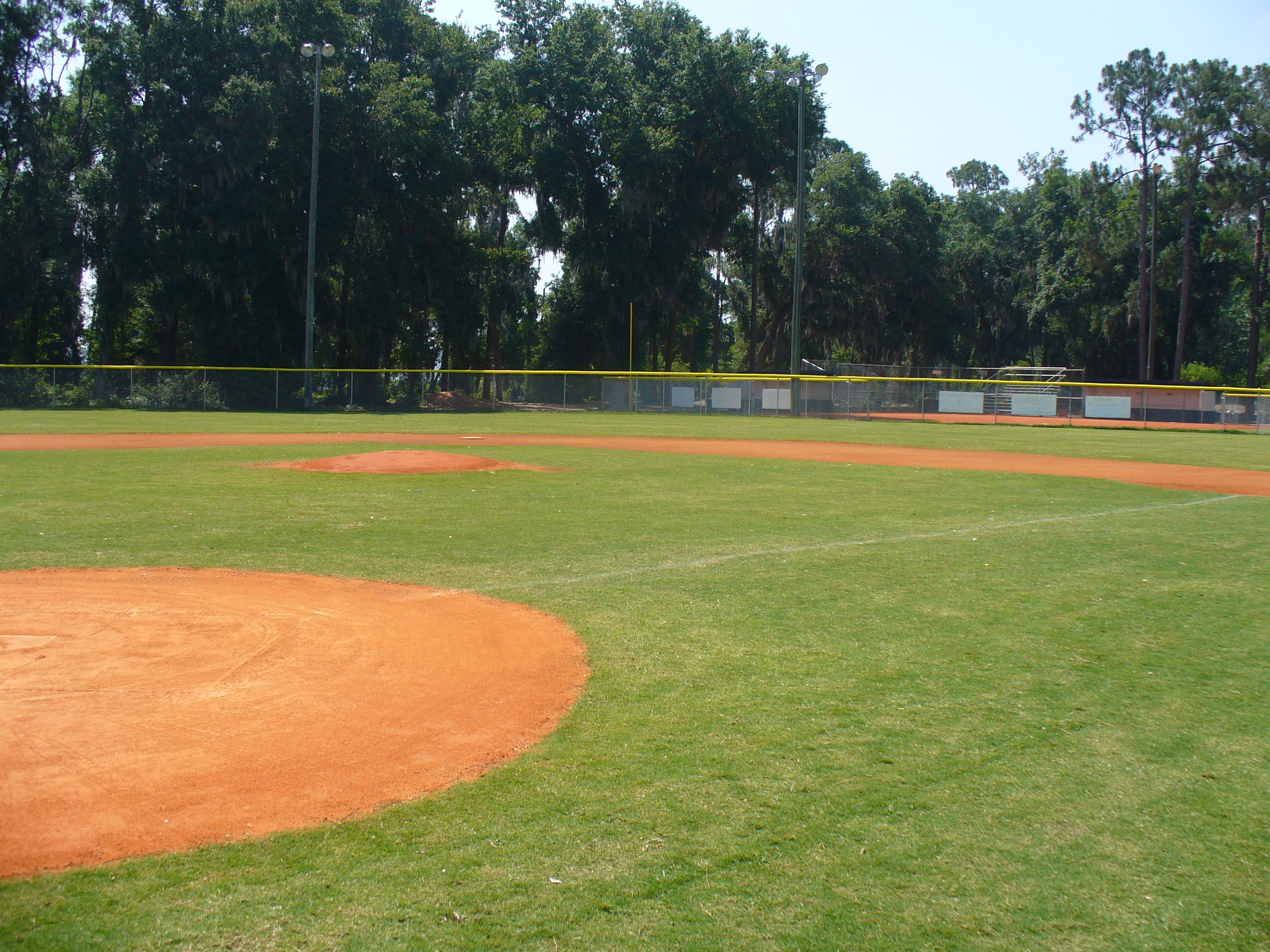 A baseball field at Westside Park