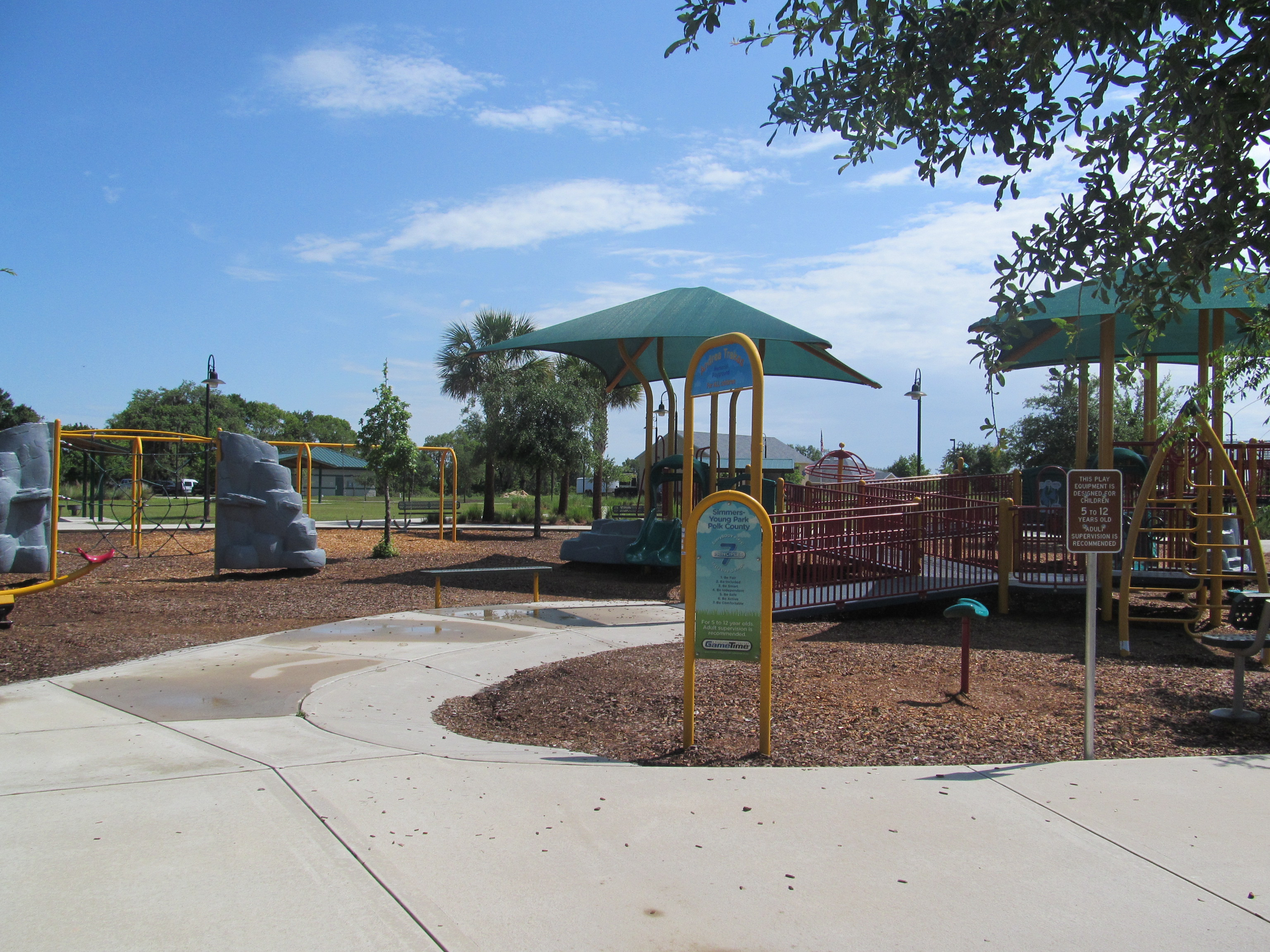 The playground at Simmers-Young Park