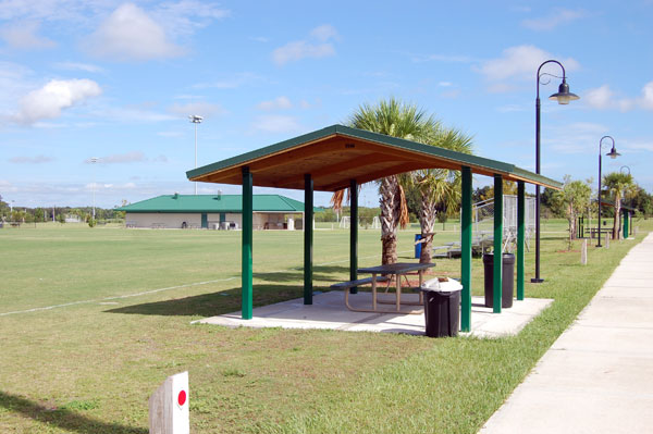 A picnic shelter at Simmers-Young Park