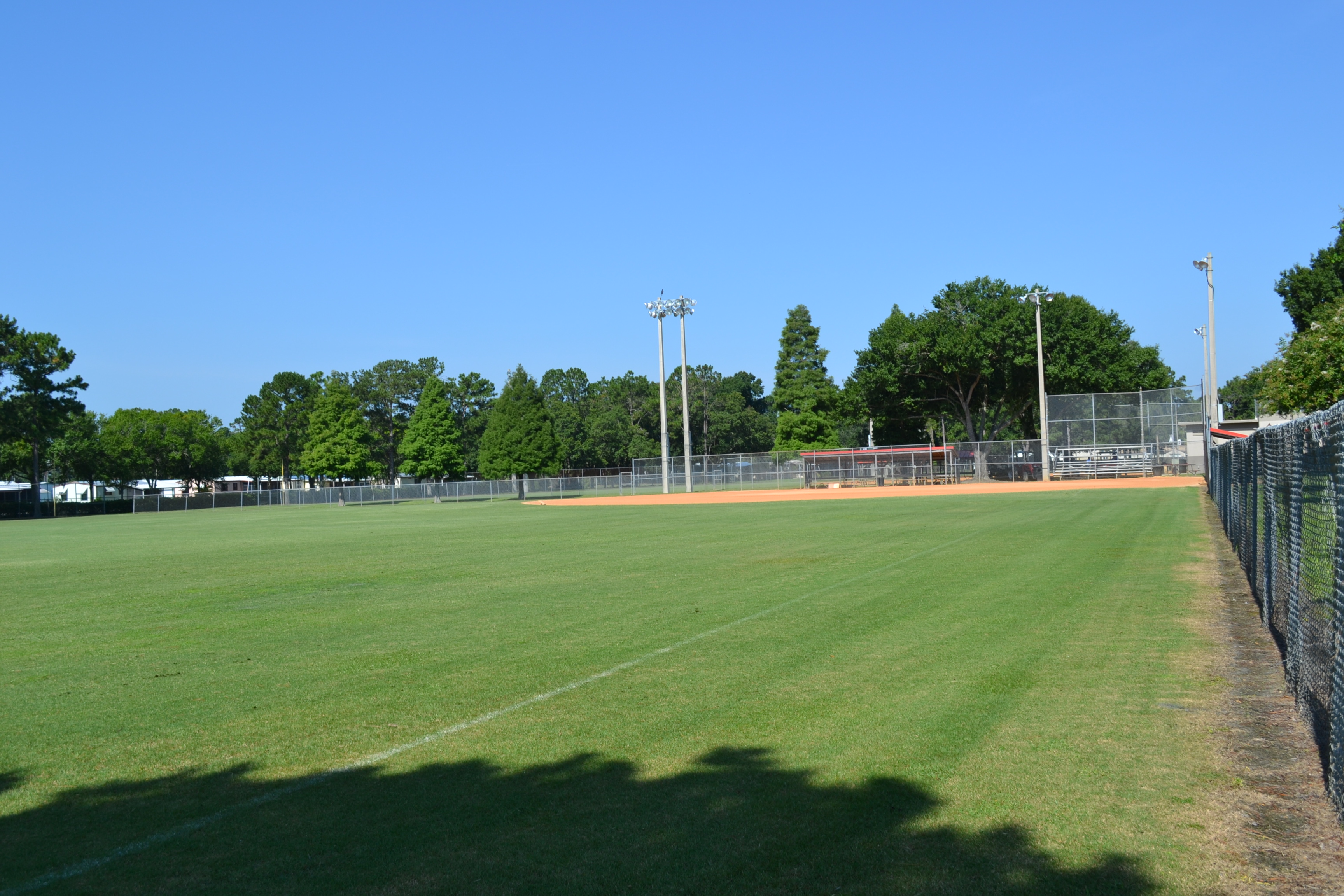 A softball field at the Southwest Complex