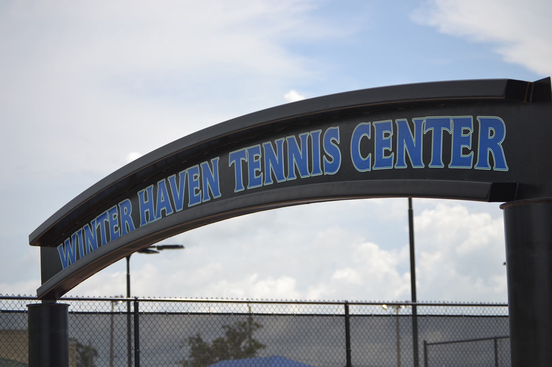 The new entrance to the Winter Haven Tennis Center