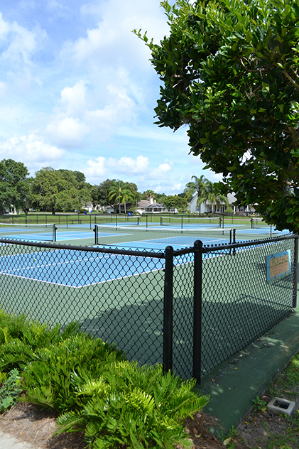 The Woodlake Park tennis courts