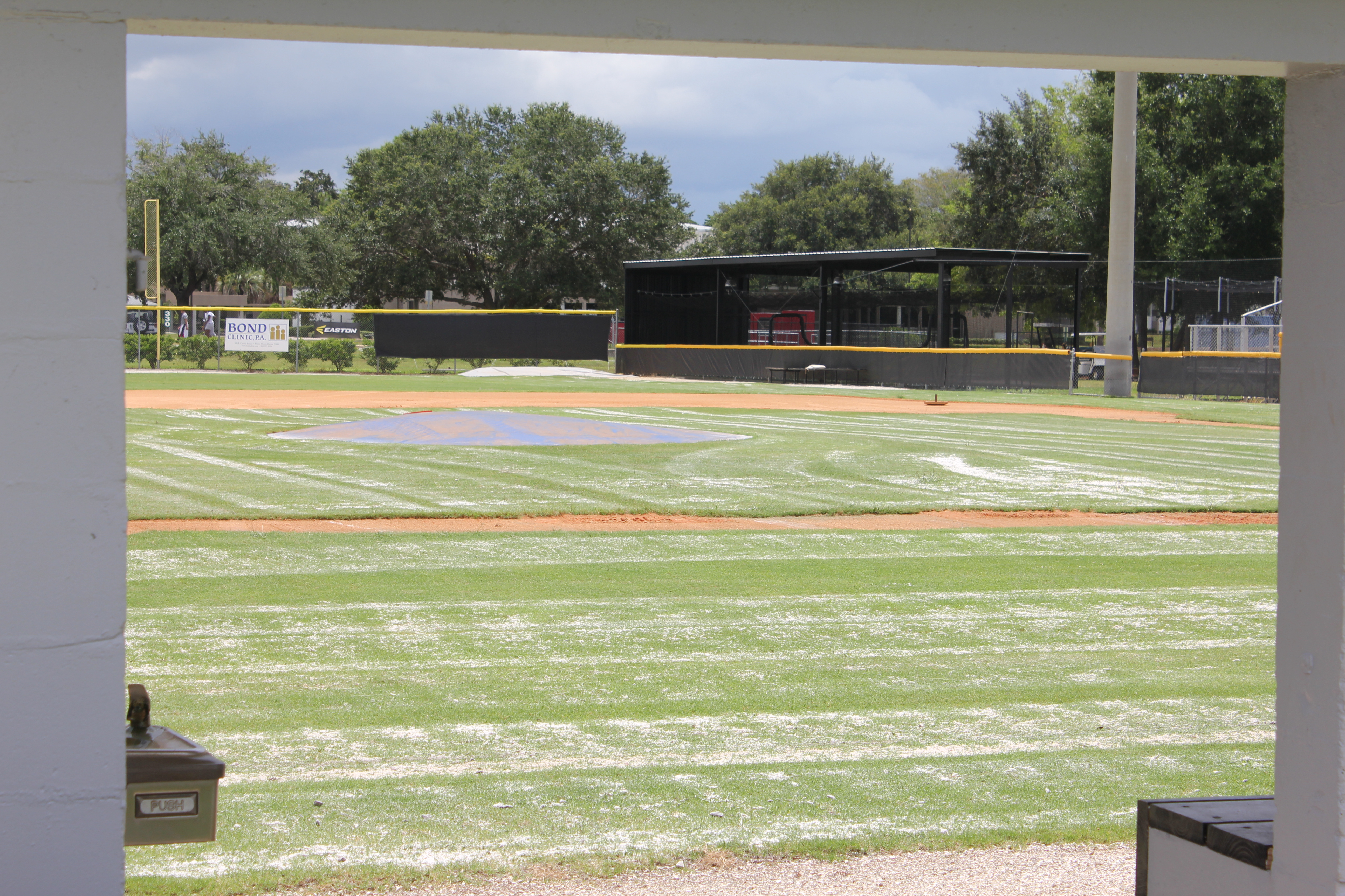 A view of Bing Tyus Yard at Polk State College