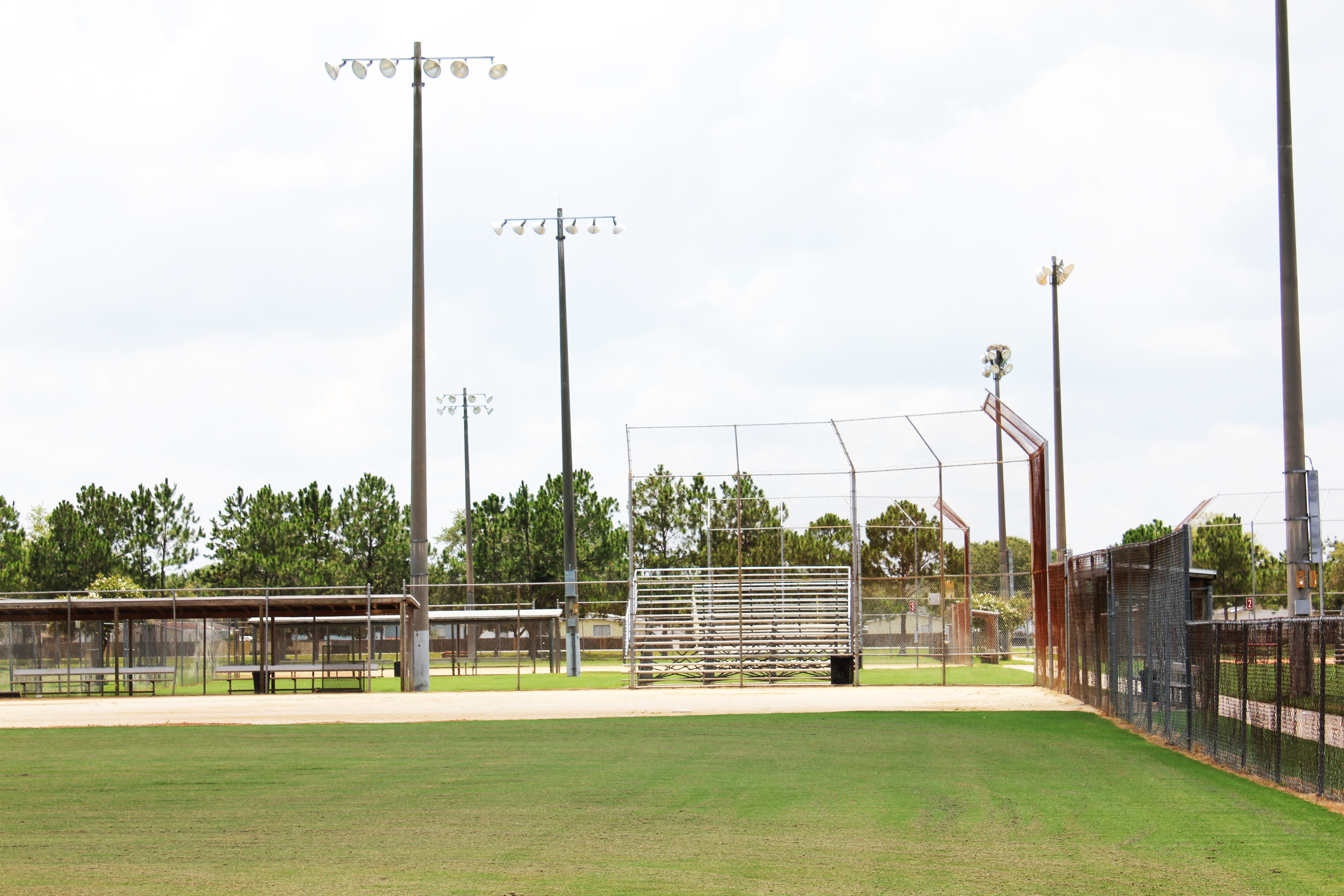 A softball field at Westside Park