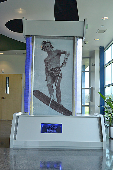 A water skiing display at the Polk County Sports Hall of Fame