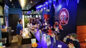 Fans seek out free orange juice during TigerFest 2018
