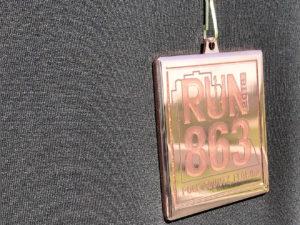 The inaugural RUN 863 medal