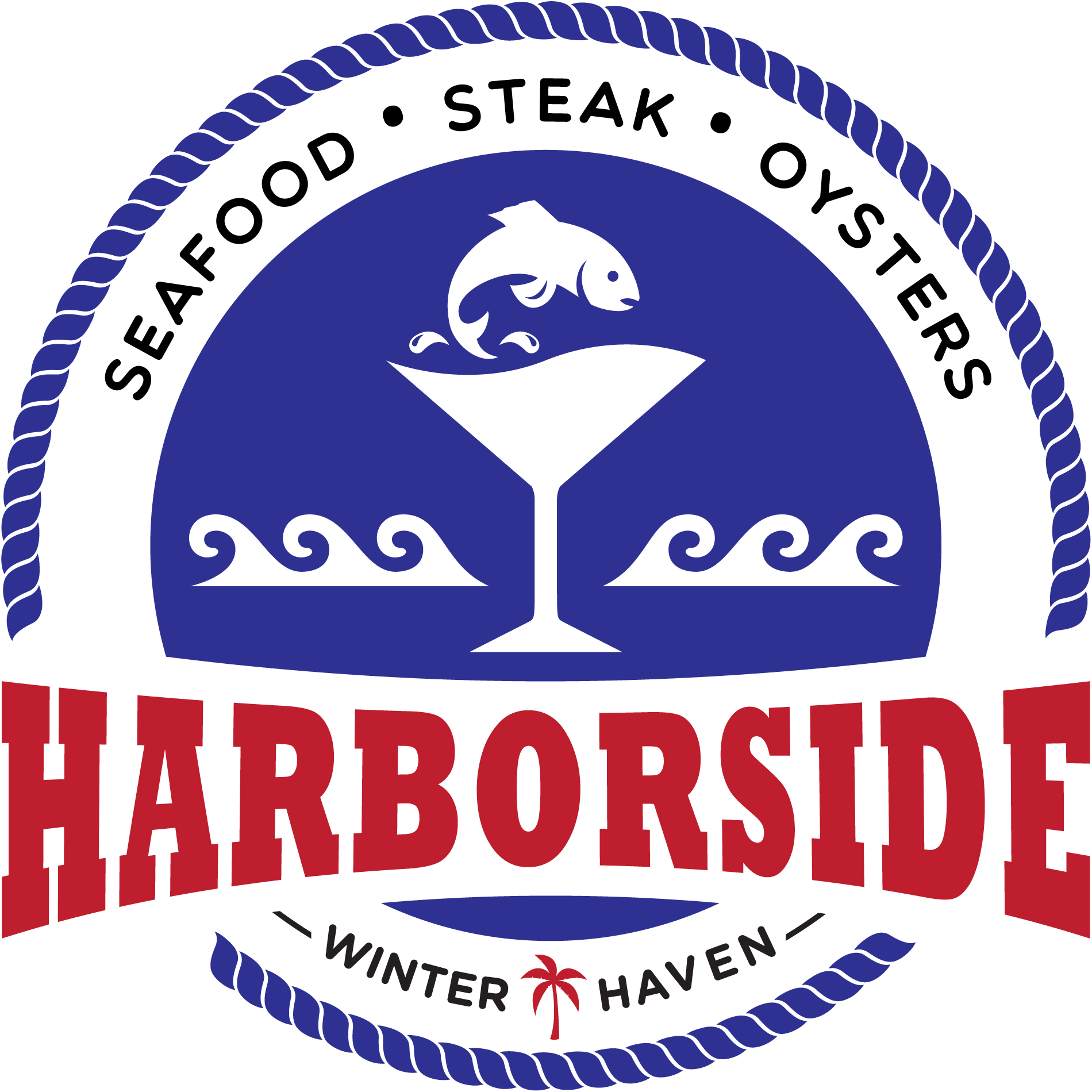 A logo for Harborside in Winter Haven