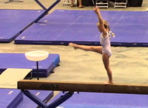 A young gymnast at the RP Funding Center