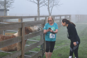 Runners in the fog at the Safari Run