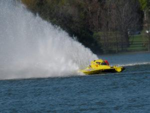 Speed boat during the Orange Cup Regatta