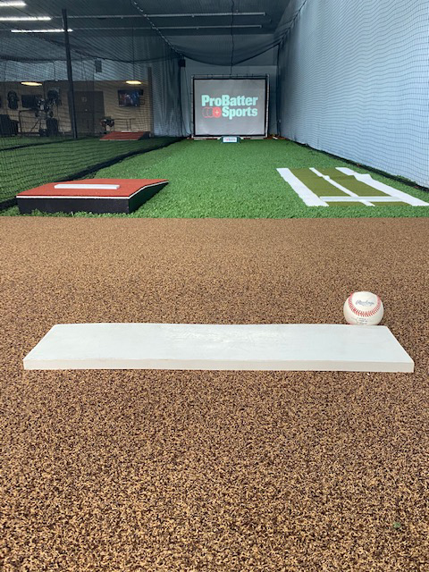 A look at the mound for the in-game computer simulator at Going 406, a baseball and softball training facility in Lakeland.