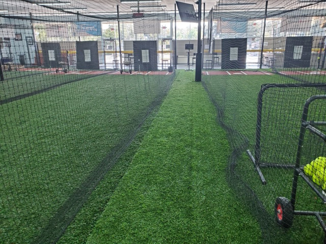A view of the batting cages at Going 406, a baseball and softball training facility in Lakeland.