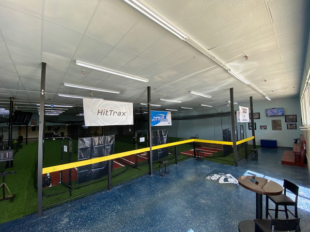 The inside of Going 406, a baseball and softball training facility in Lakeland