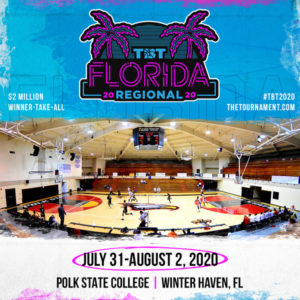 An image promoting The Basketball Tournament at Polk State in Winter Haven from July 31 to Aug. 2.