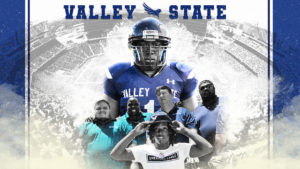 Artwork promoting Valley State, a football program at Balmoral Resort in Haines City